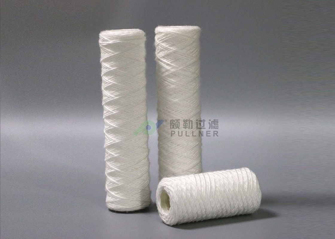 5 Micron String Wound Filter Cartridge For RO Pre - Treatment Glass Fiber